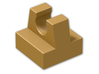 LEGO® Brick: Tile 1 x 1 with Clip (2555) | Color: Warm Gold