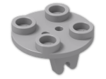 LEGO® Stein: Plate 2 x 2 Round with Wheel Holder (2655) | Farbe: Medium Stone Grey