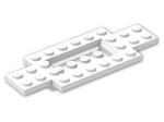 LEGO® Brick: Car Base 10 x 4 x 2/3 with 4 x 2 Centre Well (30029) | Color: White