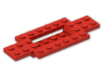 LEGO® Brick: Car Base 10 x 4 x 2/3 with 4 x 2 Centre Well (30029) | Color: Bright Red