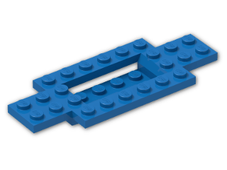 LEGO® Brick: Car Base 10 x 4 x 2/3 with 4 x 2 Centre Well (30029) | Color: Bright Blue
