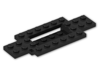 LEGO® Brick: Car Base 10 x 4 x 2/3 with 4 x 2 Centre Well (30029) | Color: Black