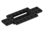 LEGO® Stein: Car Base 10 x 4 x 2/3 with 4 x 2 Centre Well (30029) | Farbe: Black