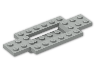 LEGO® Brick: Car Base 10 x 4 x 2/3 with 4 x 2 Centre Well (30029) | Color: Grey