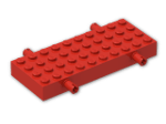 LEGO® Brick: Brick 4 x 10 with Wheel Holders (30076) | Color: Bright Red