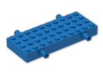 LEGO® Brick: Brick 4 x 10 with Wheel Holders (30076) | Color: Bright Blue