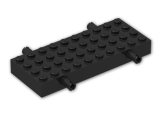 LEGO® Brick: Brick 4 x 10 with Wheel Holders (30076) | Color: Black