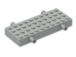 LEGO® Brick: Brick 4 x 10 with Wheel Holders (30076) | Color: Grey