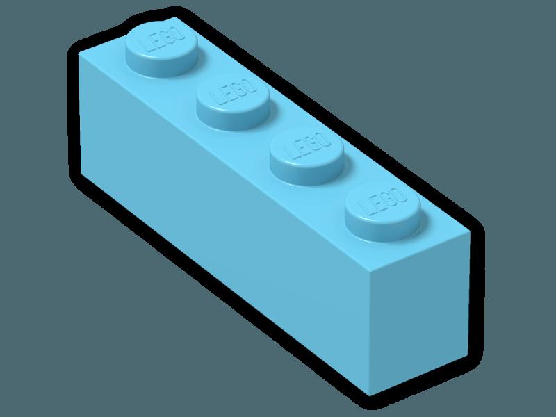 LEGO Lavender Brick 1x4 Lot of 100 Parts Pieces 3010
