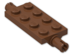 LEGO® Brick: Plate 2 x 4 with Pins (30157) | Color: Reddish Brown