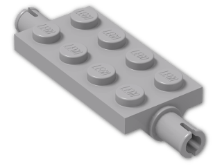 LEGO® Stein: Plate 2 x 4 with Pins (30157) | Farbe: Medium Stone Grey