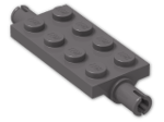 LEGO® Brick: Plate 2 x 4 with Pins (30157) | Color: Dark Stone Grey