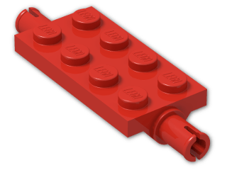 LEGO® Brick: Plate 2 x 4 with Pins (30157) | Color: Bright Red