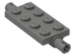 LEGO® Brick: Plate 2 x 4 with Pins (30157) | Color: Dark Grey