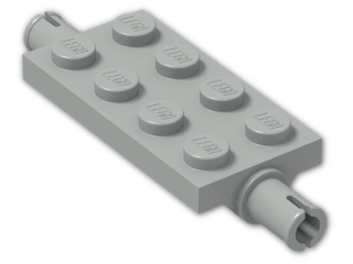 LEGO® Brick: Plate 2 x 4 with Pins (30157) | Color: Grey