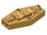 LEGO® Brick: Container Minifig Coffin Lid with Mummy Relief (Needs Work) (30164) | Color: Warm Gold