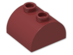 LEGO® Brick: Brick 2 x 2 with Curved Top and 2 Studs on Top (30165) | Color: New Dark Red