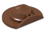 LEGO® Brick: Minifig Hat Wide Brim Flat (30167) | Color: Reddish Brown