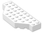 LEGO® Brick: Brick 4 x 10 without Two Corners (30181) | Color: White