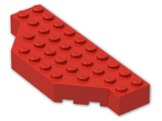 LEGO® Stein: Brick 4 x 10 without Two Corners (30181) | Farbe: Bright Red