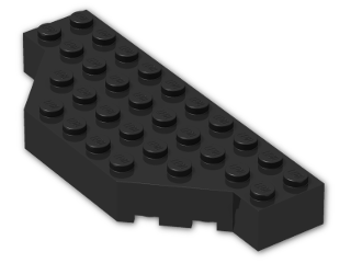 LEGO® Brick: Brick 4 x 10 without Two Corners (30181) | Color: Black
