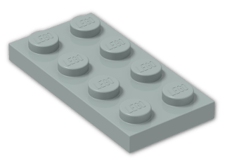 LEGO® Brick: Plate 2 x 4 (3020) | Color: Light Bluish Green