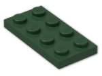 LEGO® Stein: Plate 2 x 4 (3020) | Farbe: Earth Green