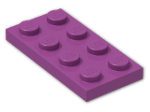 LEGO® Brick: Plate 2 x 4 (3020) | Color: Bright Reddish Lilac