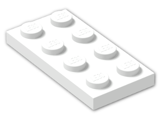 LEGO® Brick: Plate 2 x 4 (3020) | Color: White