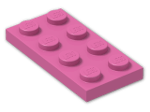 LEGO® Stein: Plate 2 x 4 (3020) | Farbe: Bright Purple