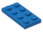 LEGO® Brick: Plate 2 x 4 (3020) | Color: Bright Blue