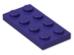 LEGO® Brick: Plate 2 x 4 (3020) | Color: Medium Lilac