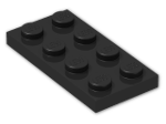 LEGO® Brick: Plate 2 x 4 (3020) | Color: Black
