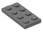 LEGO® Brick: Plate 2 x 4 (3020) | Color: Dark Grey