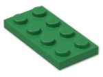 LEGO® Brick: Plate 2 x 4 (3020) | Color: Dark Green