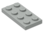 LEGO® Brick: Plate 2 x 4 (3020) | Color: Grey