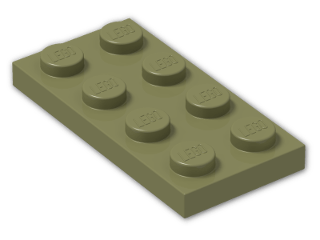 LEGO® Stein: Plate 2 x 4 (3020) | Farbe: Olive Green