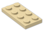 LEGO® Brick: Plate 2 x 4 (3020) | Color: Brick Yellow