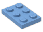 LEGO® Brick: Plate 2 x 3 (3021) | Color: Medium Blue
