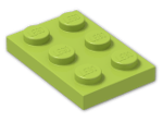 LEGO® Brick: Plate 2 x 3 (3021) | Color: Bright Yellowish Green