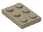 LEGO® Brick: Plate 2 x 3 (3021) | Color: Sand Yellow