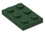 LEGO® Brick: Plate 2 x 3 (3021) | Color: Earth Green