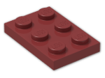 LEGO® Brick: Plate 2 x 3 (3021) | Color: New Dark Red