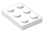 LEGO® Brick: Plate 2 x 3 (3021) | Color: White