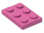 LEGO® Brick: Plate 2 x 3 (3021) | Color: Bright Purple