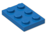 LEGO® Brick: Plate 2 x 3 (3021) | Color: Bright Blue