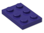 LEGO® Brick: Plate 2 x 3 (3021) | Color: Medium Lilac