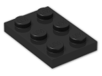 LEGO® Brick: Plate 2 x 3 (3021) | Color: Black