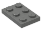 LEGO® Brick: Plate 2 x 3 (3021) | Color: Dark Grey