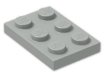 LEGO® Brick: Plate 2 x 3 (3021) | Color: Grey